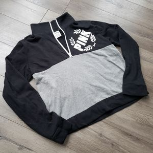 PINK VS quarter zip up sweater 🖤